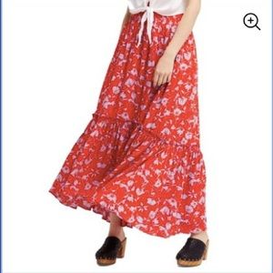 Free People NWOT Floral Maxi Skirt